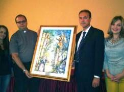 Oppido Mamertina (RC), donato dipinto della pittrice Rosanna Trimboli