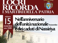 Locri: Manifestazione in ricordo dei martiri della Patria