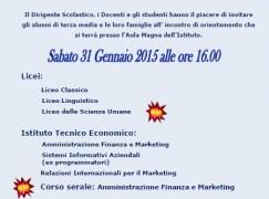 Melito di Porto Salvo (Rc), open day all' Istituto Familiari