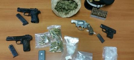 Reggio Calabria, rinvenute armi e droga