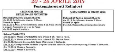Melito Porto Salvo (Rc), programma festa della Madonna 2015