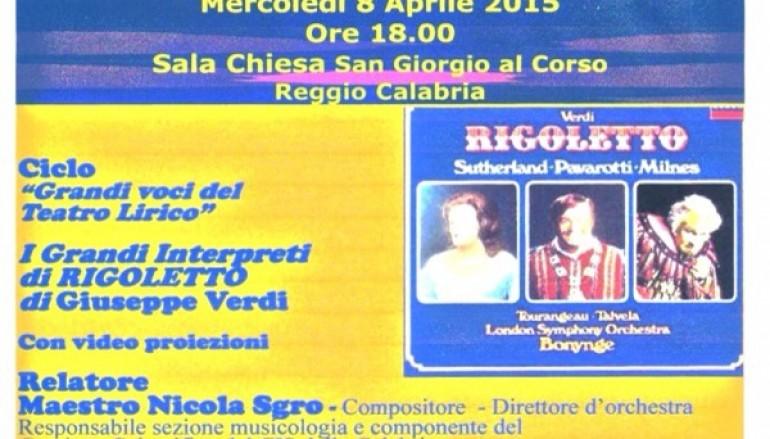 """Cis Calabria, appuntamento con i """"Grandi interpreti di Rigoletto"""""""