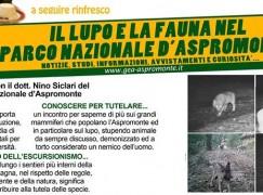 """A breve incontro: """" Il lupo e la fauna in Aspromonte"""""""