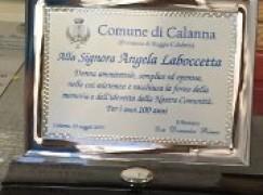 Calanna (Rc), i 100 anni della Signora Laboccetta