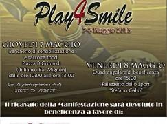 """Catanzaro, rassegna di benificenza  """"Play4Smile"""""""