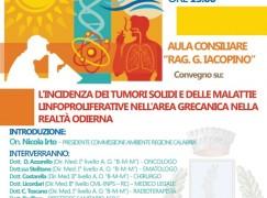 Bagaladi, convegno sui tumori nell'area grecanica