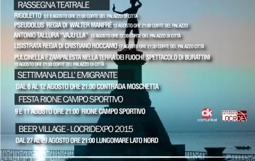 Locri, presentato il cartellone degli eventi estivi 2015