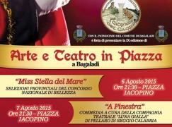 "Bagaladi (Rc), a breve "" Arte e Teatro in Piazza"""