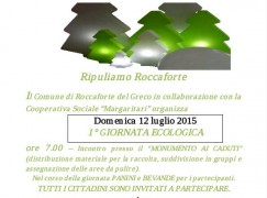 """Roccaforte (Rc), manca poco per la prima """"Giornata Ecologica"""""""
