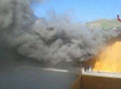 Catanzaro, incendio al Policlinico Universitario di Germaneto