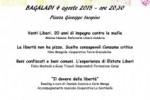 Bagaladi, il 4 agosto si terrà la prima Cena della legalità