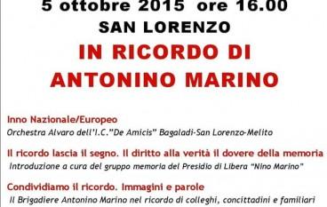 """San Lorenzo, """"Libera"""" presente all' evento sul brigadiere """"Nino Marino"""""""