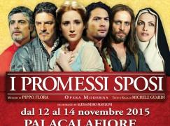 """Reggio Calabria, al Palacalafiore l'opera musicale """"I Promessi Sposi"""""""