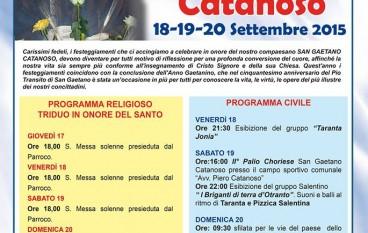 Chorio, rinviati festeggiamenti in onore di San Gaetano Catanoso