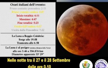 Al Planetario Pythagoras la Notte bianca della luna rossa