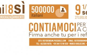 """Cosenza, campagna referendaria dell'Associazione """"Possibile"""""""