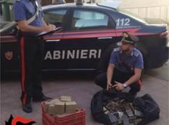 Palmi, rinvenuti 160 kg di hashish: un arresto