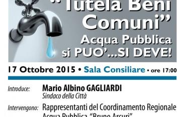 Acqua Pubblica, il Vescovo di Cassano a Saracena