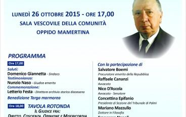 Oppido Mamertina, commemorazione del giudice emerito Pignataro