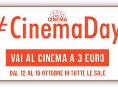 CinemaDays, dal 12 al 15 ottobre al cinema con soli 3 euro
