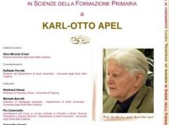 Università della Calabria, Laurea ad Honorem ad Apel