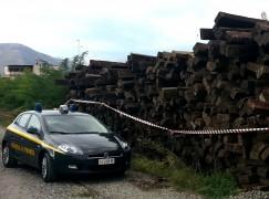 Cosenza, sequestrate 64 tonnellate di traverse in legno tossiche