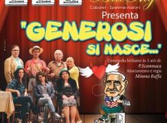 """Reggio Calabria, """"Generosi si nasce"""" al Teatro Loreto"""