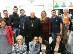 """Mons. Morosini in visita all'I.I.S """"Fermi-Boccioni"""""""