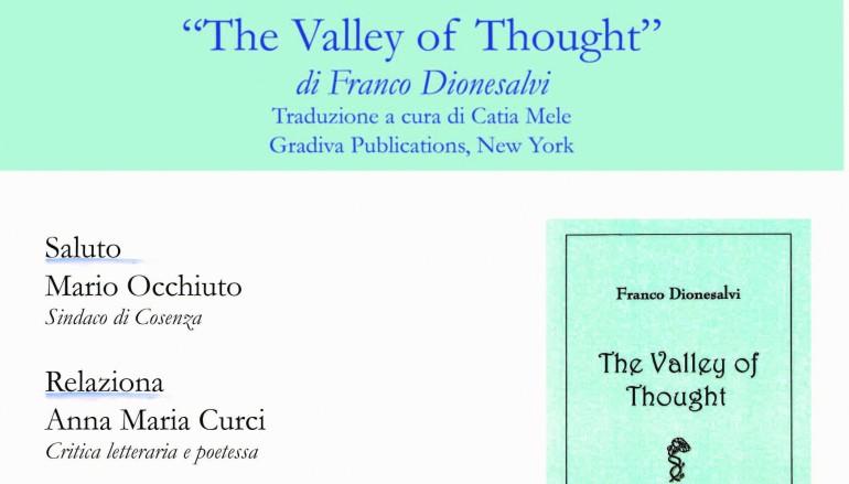 """A Cosenza presentazione del libro """"La valle del pensiero"""" di F. Dionesalvi"""