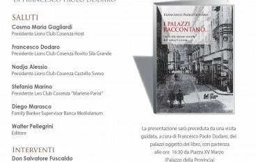 """Cosenza, presentazione del volume """"I palazzi raccontano"""""""