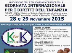 Calabria, nelle piazze kiwi della beneficenza con Kiwanis
