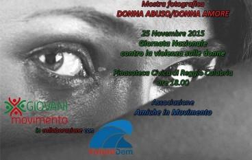 Violenza sulle donne: mostra fotografica a Reggio Calabria