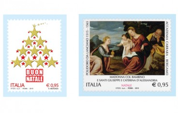 Da Poste Italiane due francobolli per celebrare il Natale