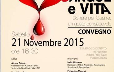 """Melito, Adspem organizza evento: """"Sangue e Vita"""""""