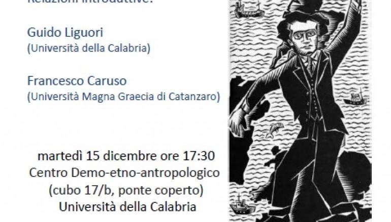 Unical: Laboratorio su Gramsci con Guido Liguori e Francesco Caruso