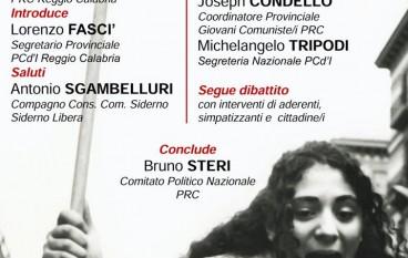 """Siderno, dibattito con l'associazione  """"Ricostruire il Partito Comunista"""""""
