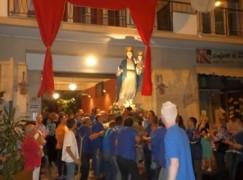 Madonna del Soccorso in visita alle Muse nella settimana Mariana