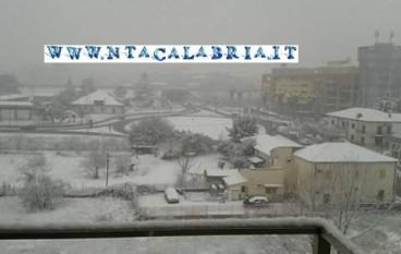 Cosenza, le foto della neve a Rende