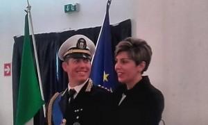 Comandante della Polizia Locale, Laganà Antonio Onofrio  e l'Assessore alla Polizia Locale, Dott. Patrizia Crea