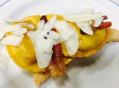 Ravioli di patate viola