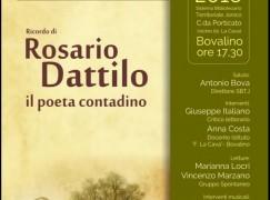Bovalino, Caffè La Cava ricorda il poeta Rosario Dattilo