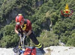 Catanzaro, cavallo caduto in un dirupo di 250 metri