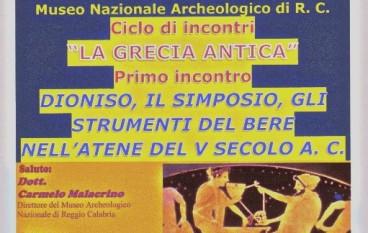 Reggio Calabria, conferenza su grecità classica e simposio