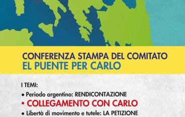 """Conferenza stampa del Comitato """"El Puente per Carlo"""""""