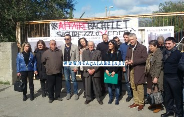 Condofuri: Bachelet, sit-in di Morra e Dieni (FOTO)