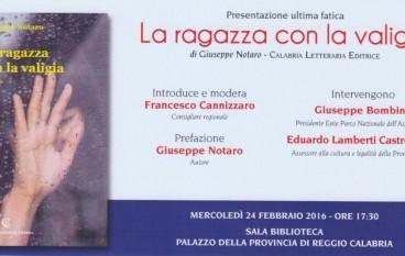 Reggio, presentazione del libro di Giuseppe Notaro