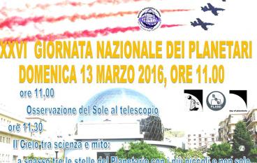 """Il Planetario Pythagoras aderisce alla """"Giornata dei Planetari"""""""