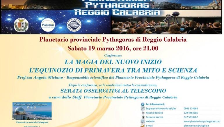 Il Planetario Pitagora festeggia la primavera