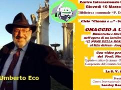 Centro Internazionale Scrittori rende omaggio a Umberto Eco