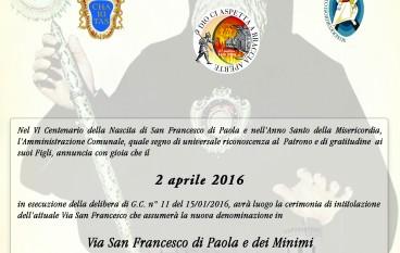 Corigliano, VI centenario San Francesco, al via celebrazioni